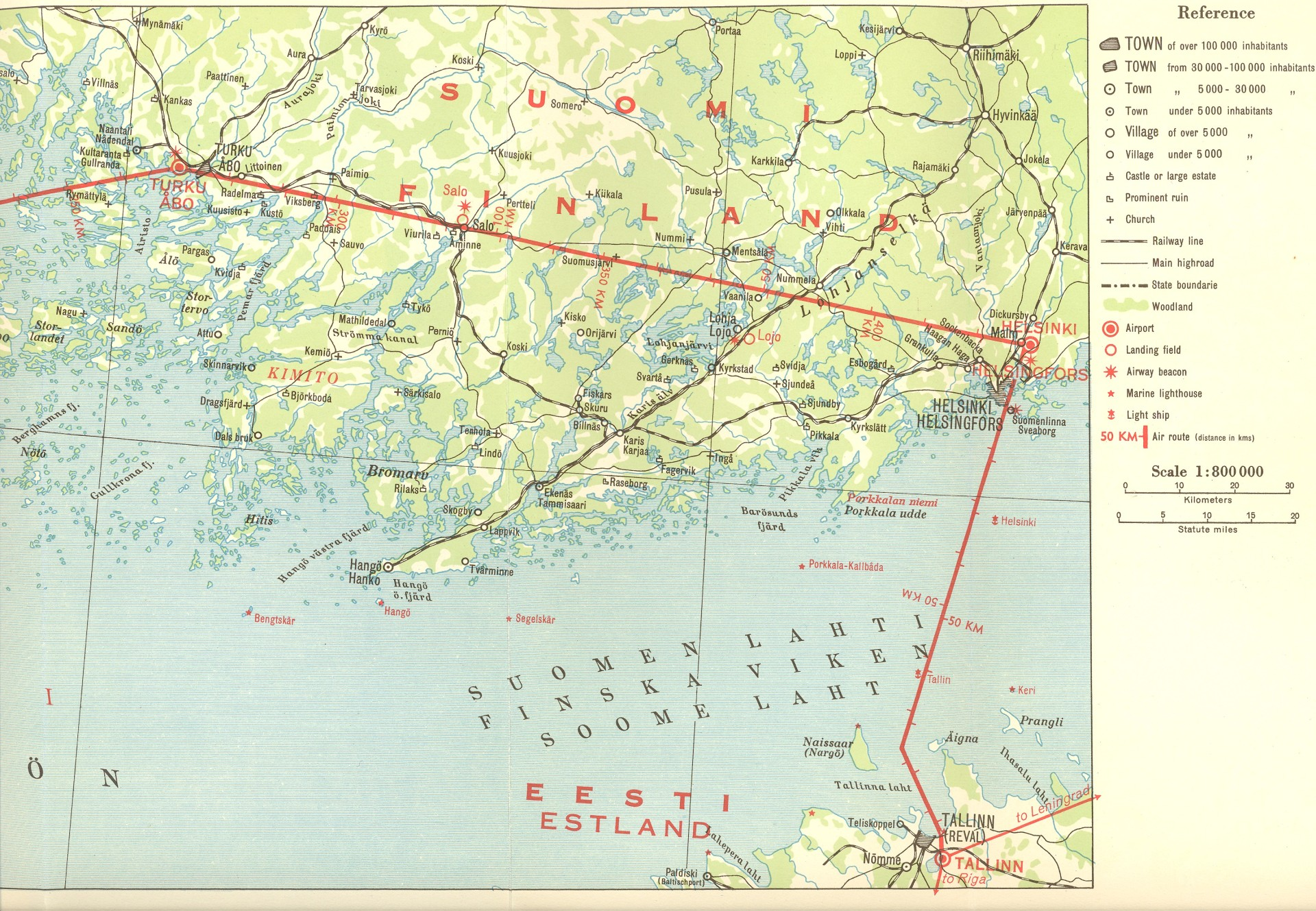 History of finland a selection of events and documents part of a route map sciox Choice Image